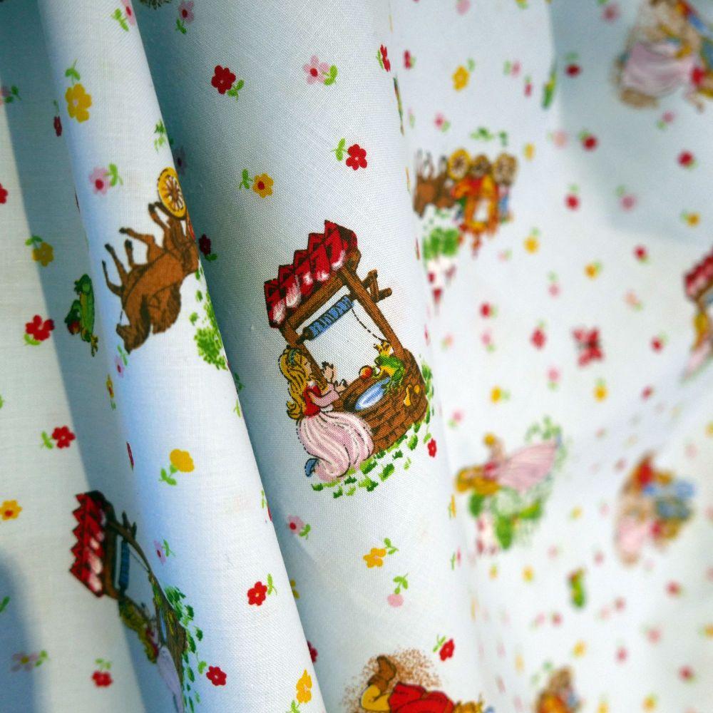 Vintage Princess & The Frog Cotton - 140cm x 1.9 Metres