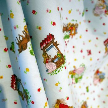Vintage Princess & The Frog Cotton - 140cm wide