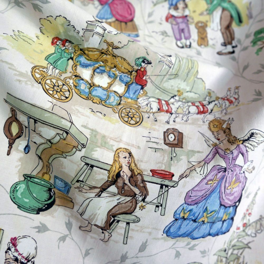 1950's Sanderson Fairytale Fabric - 75cm wide
