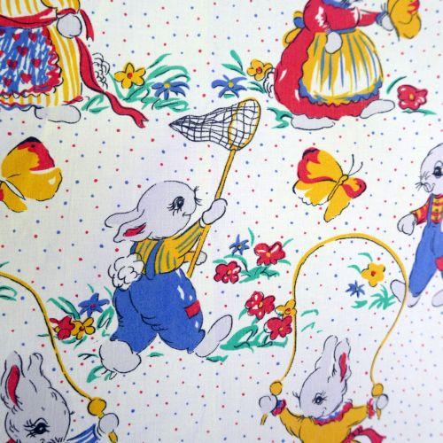 Vintage Bunnies Cotton - 135cm wide