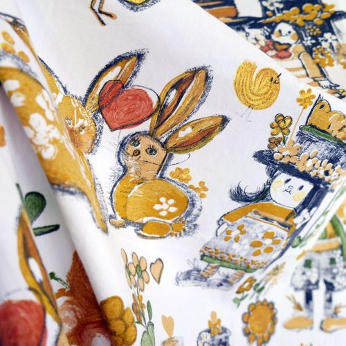 1970's Bunny Rabbits Cotton - 125cm wide