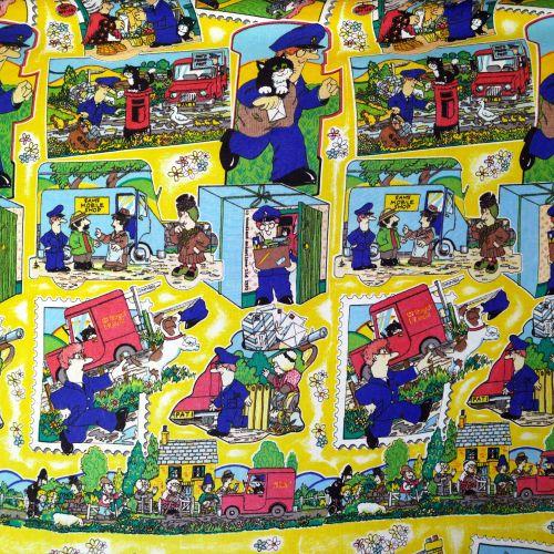 Postman Pat Cotton - Yellow - 80cm x 75cm