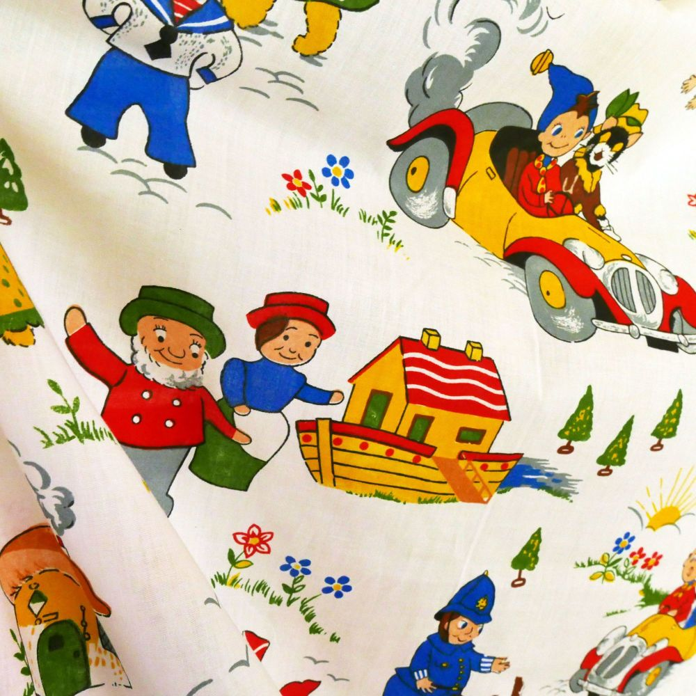 1970's Noddy Fabric by Fothergay Noah's Ark - 114cm wide