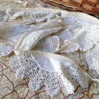 Vintage Doily Bunting - 3 Metres - Cream & White - String A