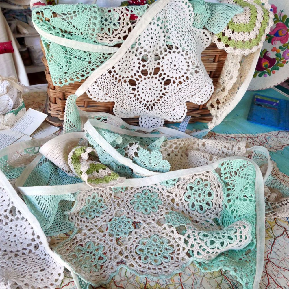 Vintage Doily Bunting - 5 Metres - String D
