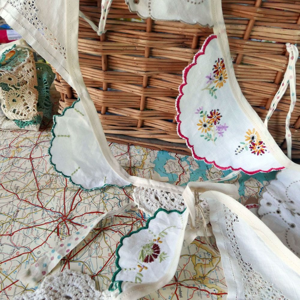 Vintage Doily Bunting - 2 Metres - String F