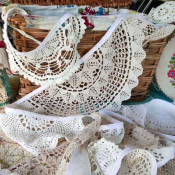 Vintage Lace Doily Bunting - 5 Metres - Cream & White - String G