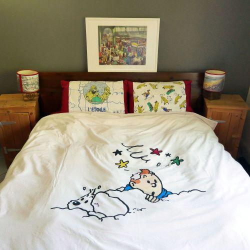 Tintin DOUBLE Duvet Cover - Tintin & Snowy