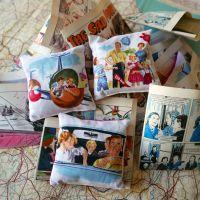 Sixties Print Lavender Bags