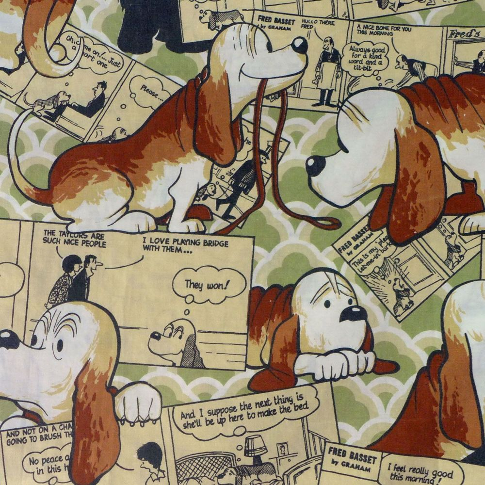 Fred Bassett Cotton Fabric - 50cm x 40cm