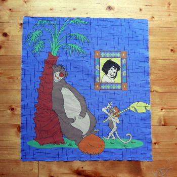 Jungle Book - Baloo Cotton Panel - 55cm x 55cm