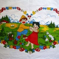 <!-- 008 -->1970's Heidi Cotton Panel - 55cm x 40cm