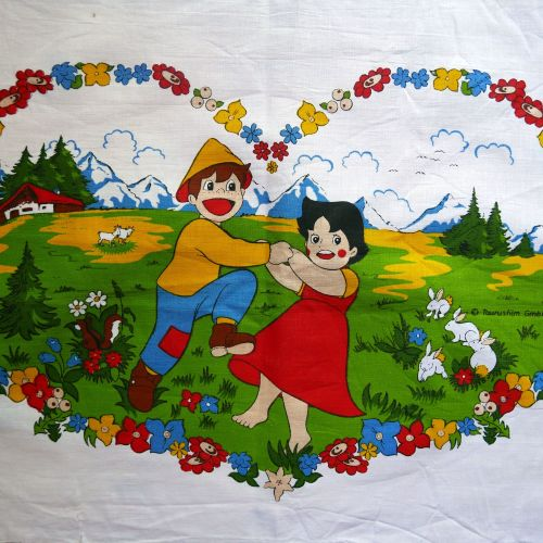 1970's Heidi Cotton Panel - 55cm x 40cm