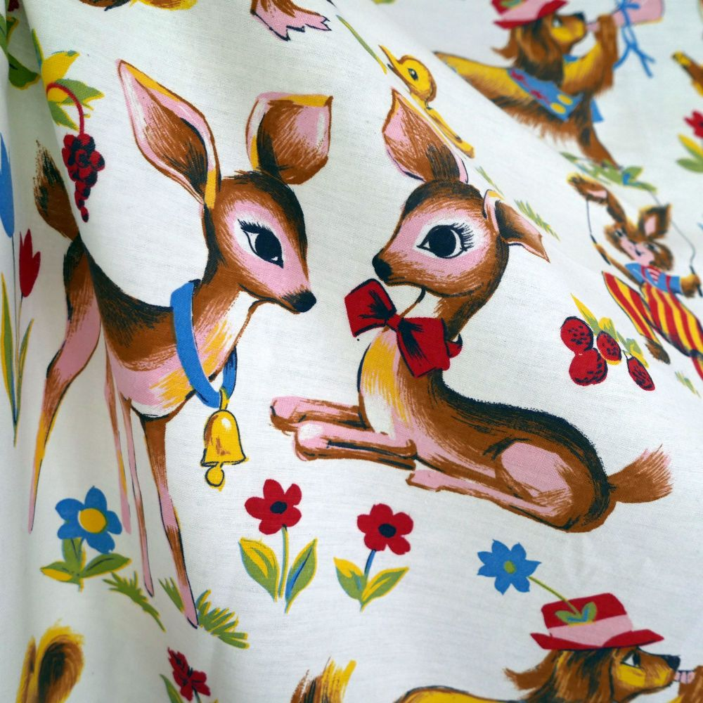 Deer and Rabbit Cotton - 110cm