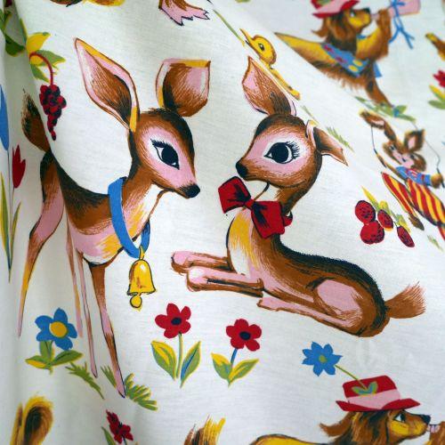Deer and Rabbit Cotton - 110cm