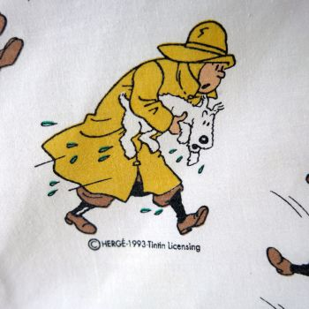 Vintage Tintin Fabric -The Shooting Star - 85cm wide