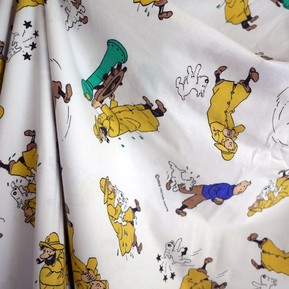 Vintage Tintin Fabric -The Shooting Star - 130cm wide