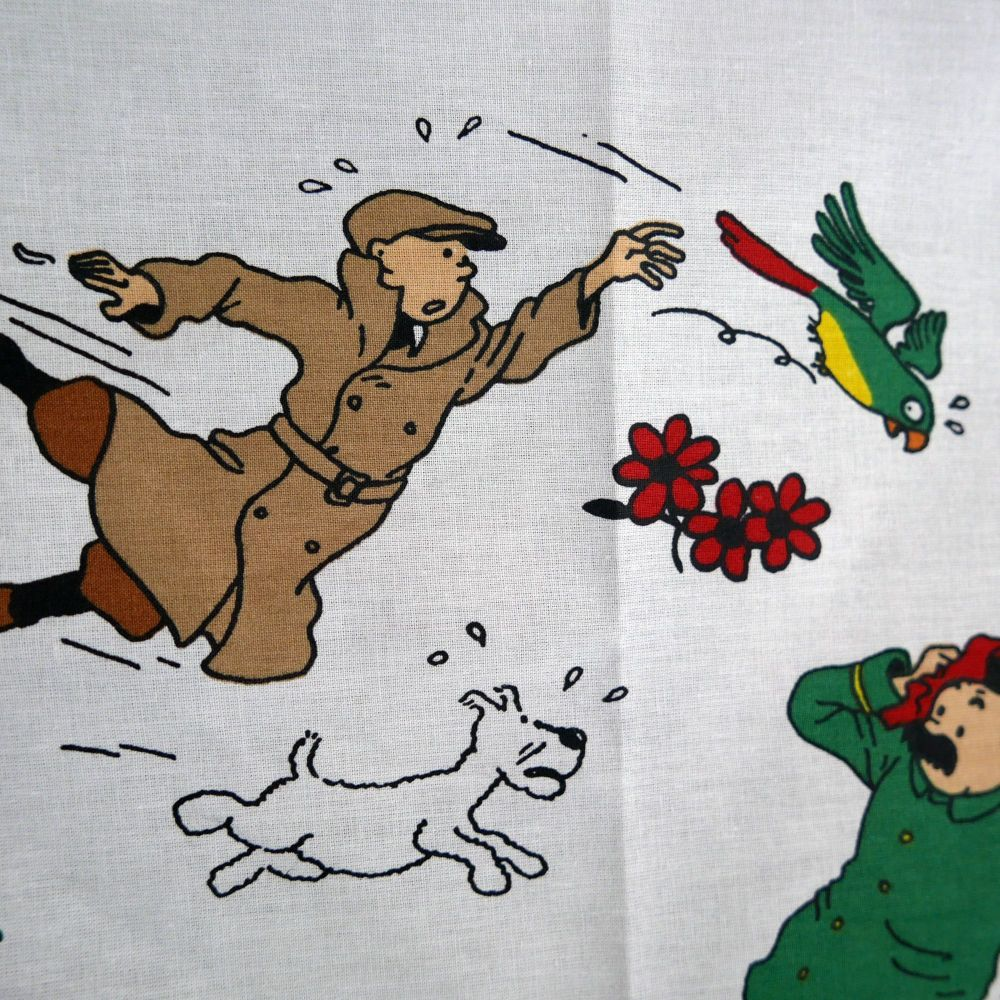 Vintage Tintin Fabric - The Broken ear (Sunflower) 120cm wide