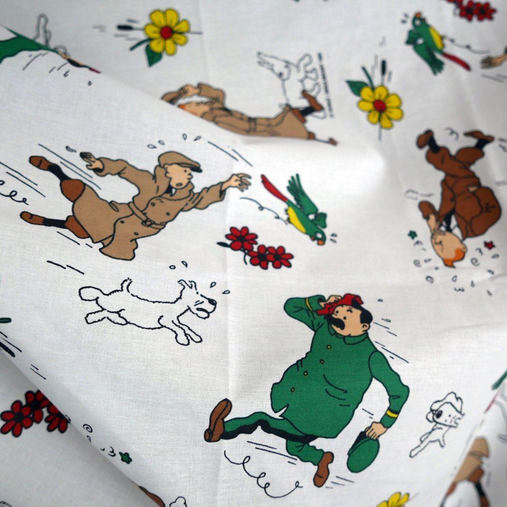 Vintage Tintin Fabric - The Broken ear (Sunflower) 120cm wide