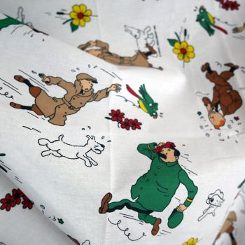 Vintage Tintin Fabric - The Broken ear (Sunflower) 115cm wide