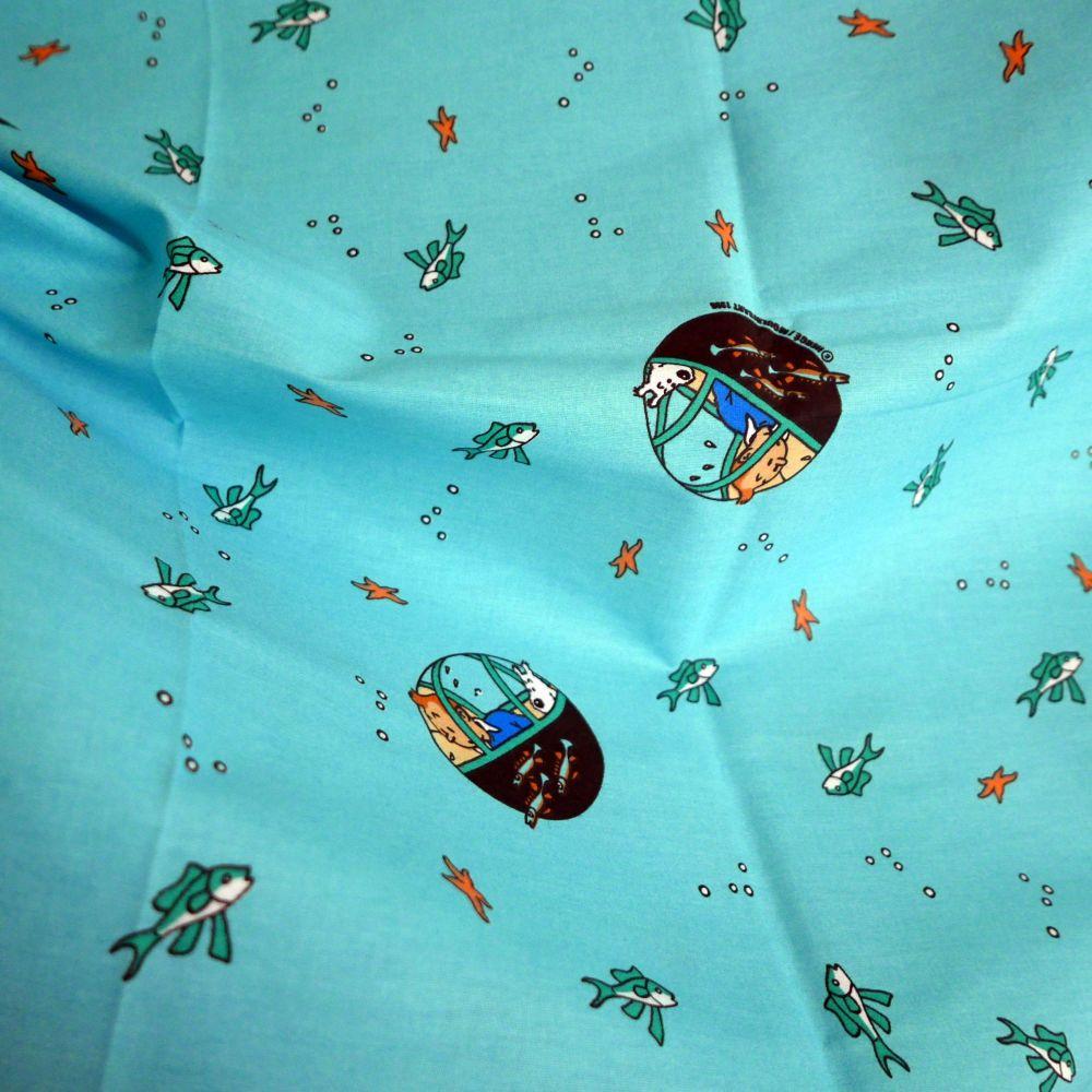 Red Rackham's Treasure - Tintin Fabric - 130cm Wide