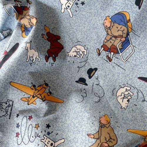 Vintage Tintin Cotton - 130cm Wide