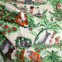 1979 Romanex Boussac Jungle Book Cotton - 130cm x 75cm