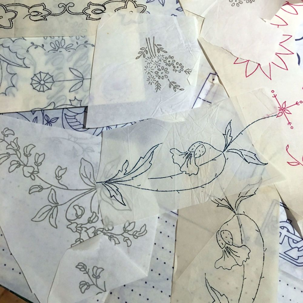 1960's/70's Embroidery Transfers - 19 in Total