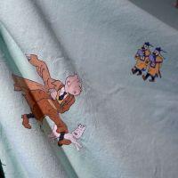 Tintin Character Cotton - Green - 120cm x 50cm