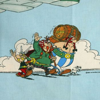 Vintage Asterix & Friends Cotton - 95cm x 100cm