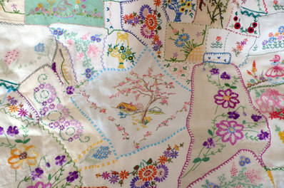 handmade quilt vintage embroidery