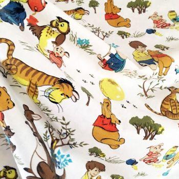 Vintage Winnie the Pooh Cotton - Fothergay - 110cm wide