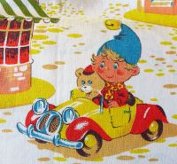Vintage Noddy Fabric by Coloroll - 120cm Wide - 1970's