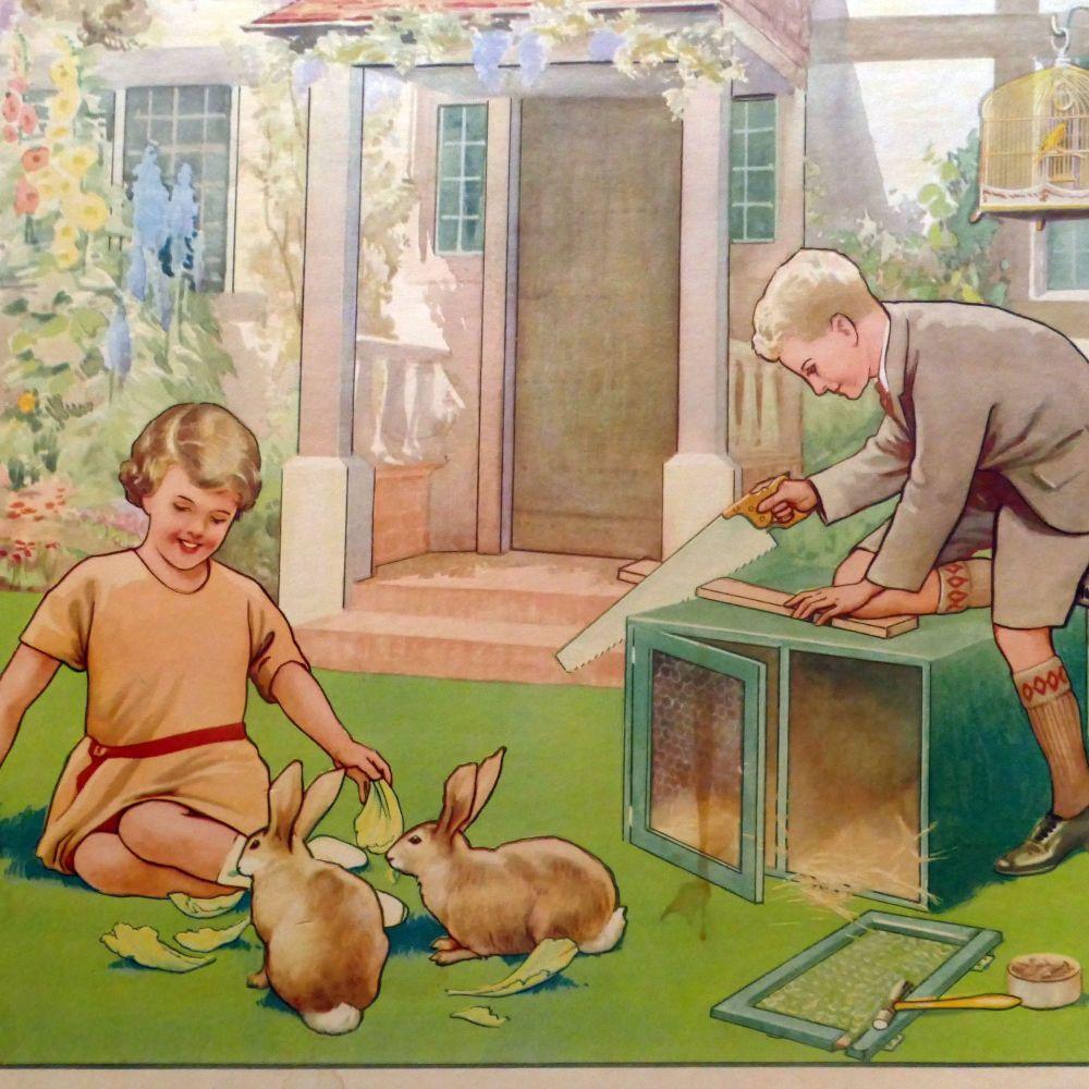 1930's School Posters - Childhood Themes - Vintage & Original
