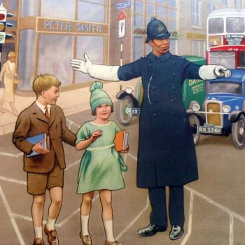 1930's School Posters - In the Town - Vintage & Original