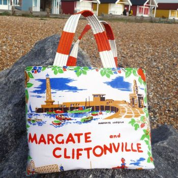 Vintage Shopping Bag - Margate - Upcycled Market Bag
