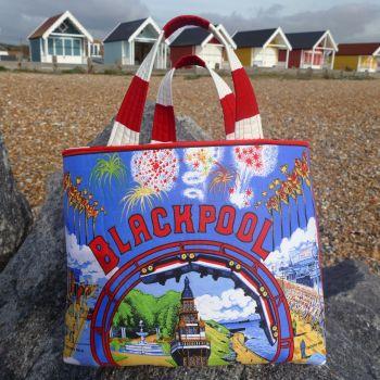 Vintage Shopping Bag - Blackpool - Upcycled Market Bag