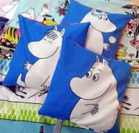Moomin Thermal Cushion - Blue Square