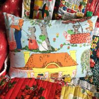 Hector's House Cushion - 1960's Fothergay Cotton