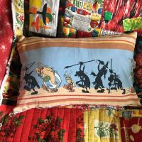 Asterix & Obelix Cushion - Double Sided - Vintage Cotton