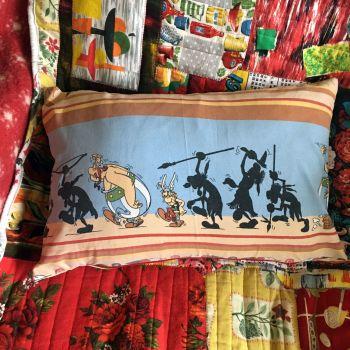 Asterix & Obelix Cushion - Double Sided - Vintage Cotton