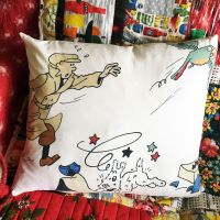 Vintage Tintin Cushion - The Broken Ear