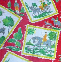 Vintage Horses Print Linen - 125cm wide x 70cm