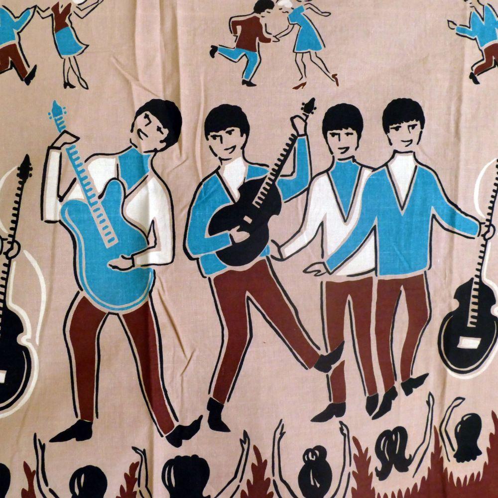 Original 1960's Beatles Cotton - 100cm x 87cm