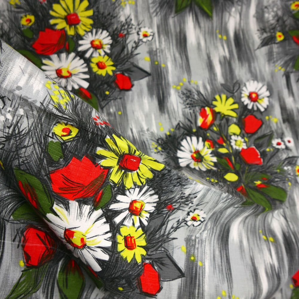 Vintage French Floral Fabric - 140cm x 150cm