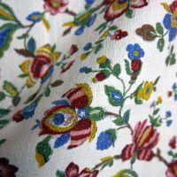 Vintage Jacobean Print Barkcloth - 53cm x 80cm