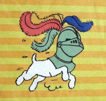 Tintin Fabric Pieces - Seven Crystal Balls - 60cm x 50cm