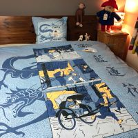 Vintage Tintin DOUBLE Duvet Cover - The Blue Lotus