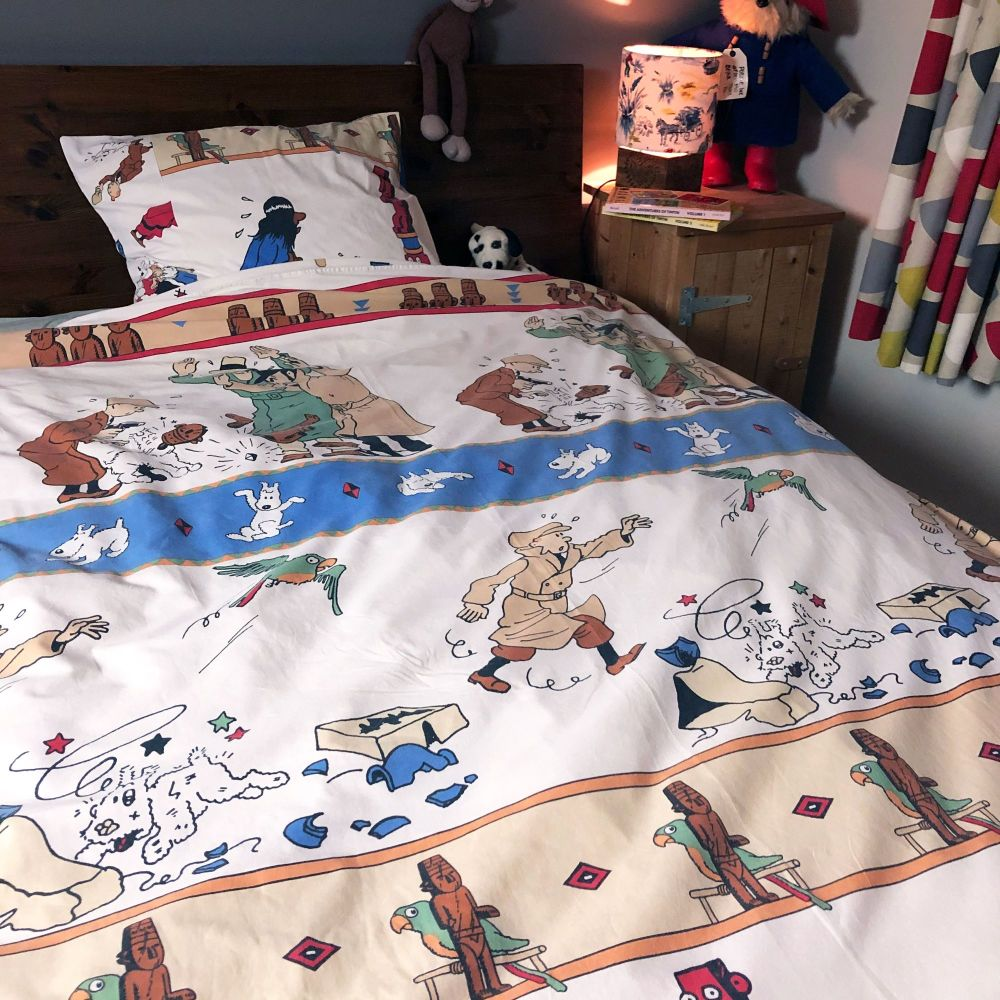 Vintage Tintin SINGLE Duvet Set  - The Broken Ear