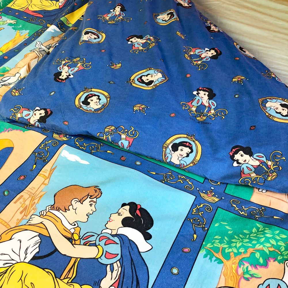 Vintage Snow White Duvet Cover